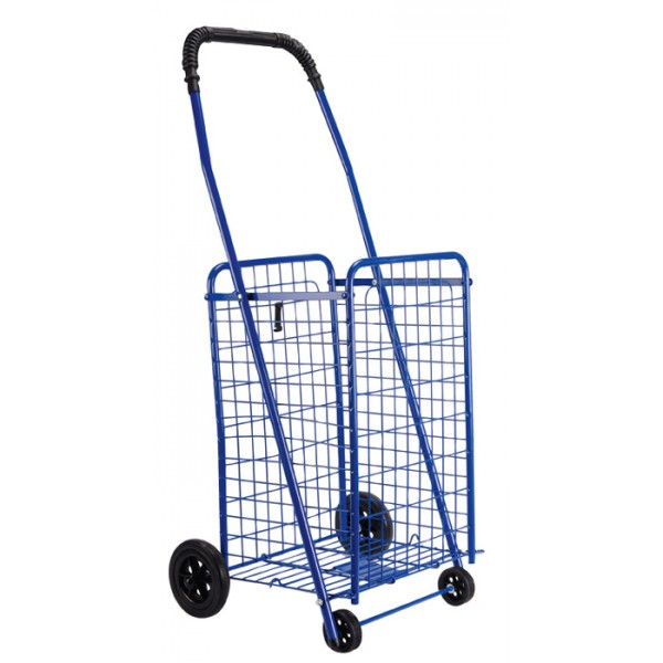 fce6a371ae Καρότσι Λαϊκής Μεταλλικό 60lt 54x47x96cm Πτυσσόμενο 3.2kg Αντοχή Bάρους  35kg με 2+2 Ρόδες Μπλε