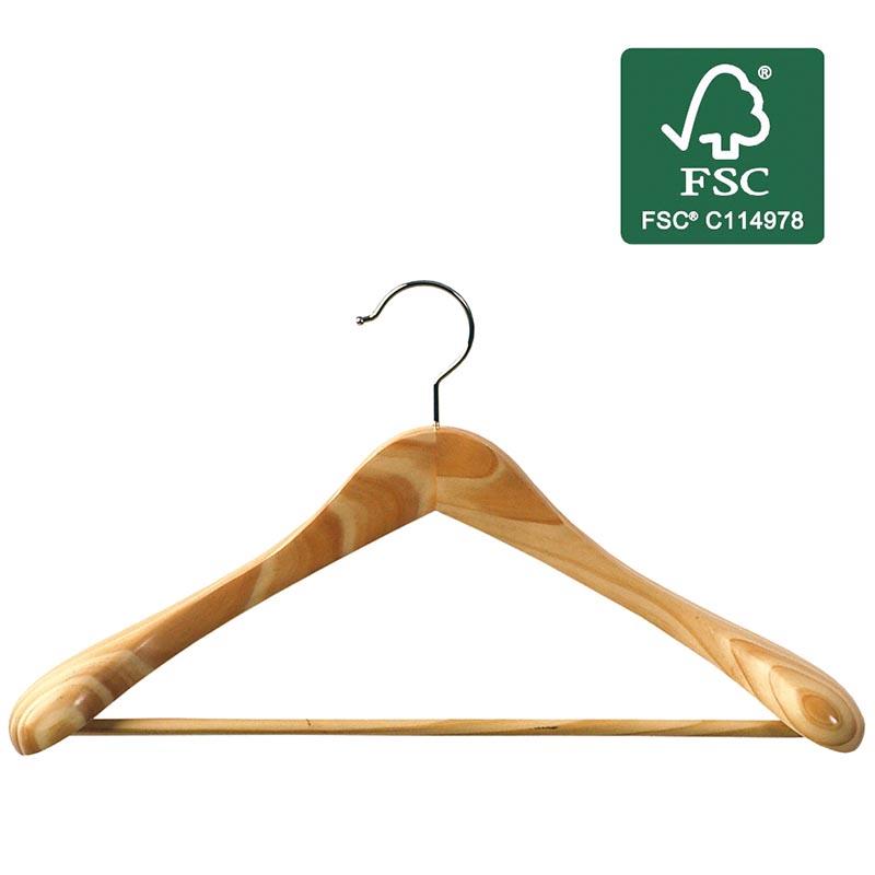 471cae3af178 ORDINETT ITALY Κρεμάστρα Ρούχων για Παλτά και Κουστούμια Ξύλινη  45x5.5x24.5cm Πιστοποίηση FSC