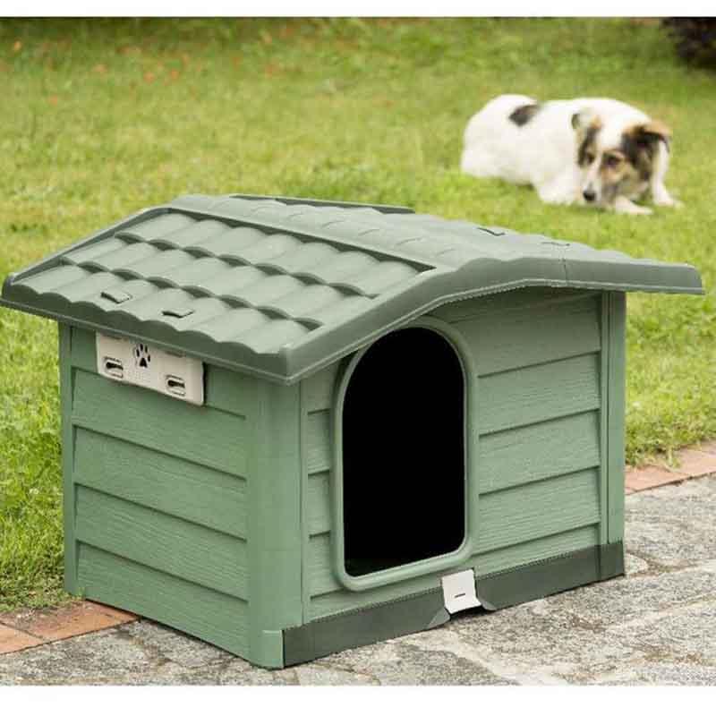 5d7b65d4a145 ... BAMA ITALY Σπίτι Σκύλου 110x94x77cm X LARGE με Ρυθμιζόμενη Οροφή και  Αφαιρούμενο Πάτωμα 15kg Πράσινο BUNGALOW ...