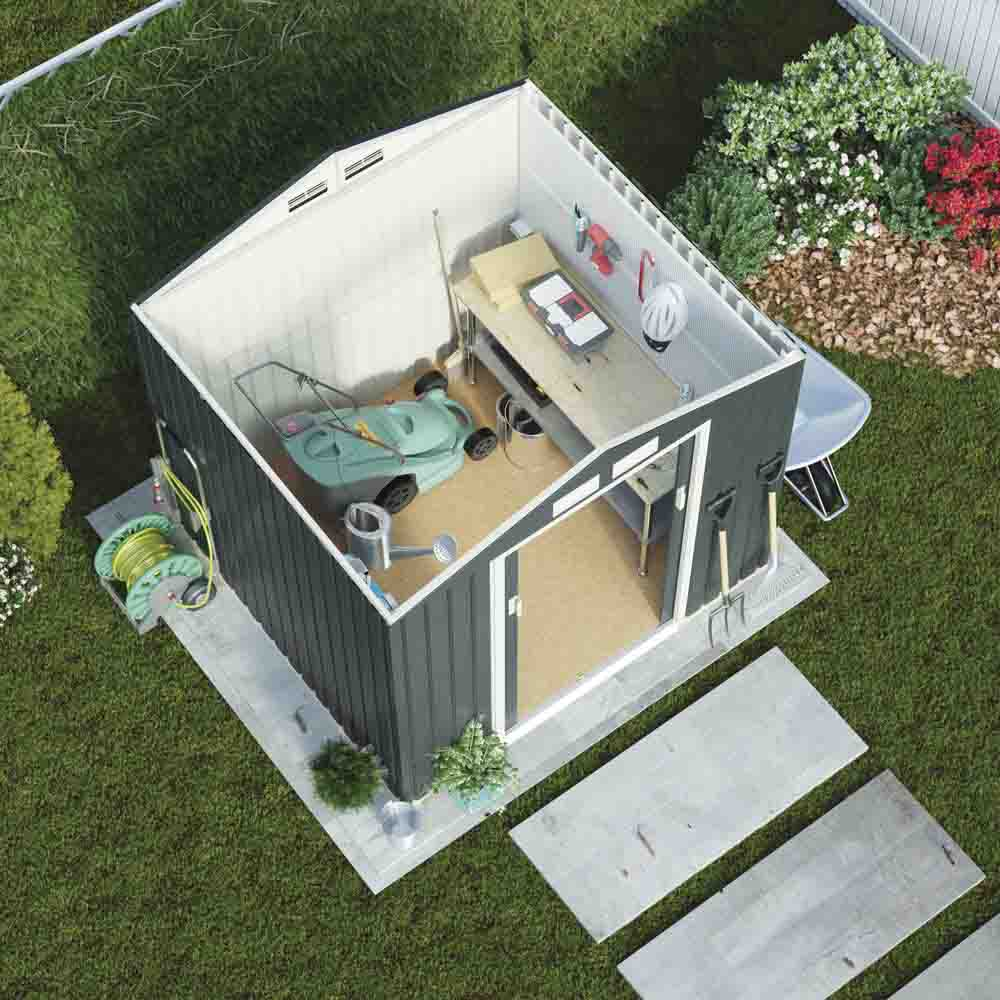 06fa7c6bc8cd ... Μεταλλική Αποθήκη Κήπου - Σπιτάκι Κήπου 201x121x190 (6.6 x4 ) 4.62m³  Γαλβανιζέ ...