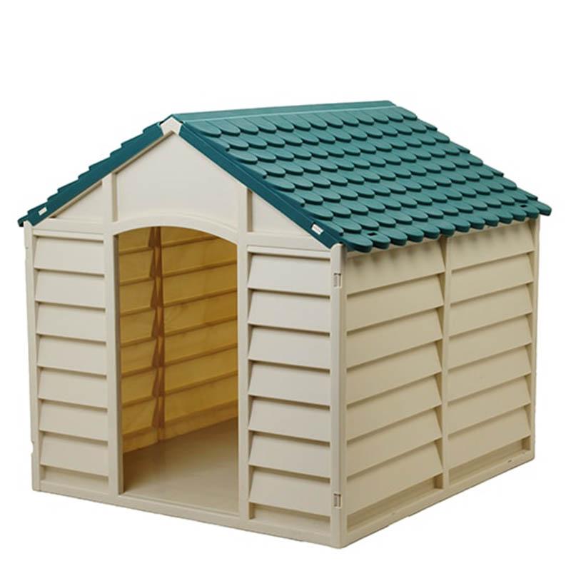 STARPLAST Σπίτι Σκύλου 78x84.5x80.5cm LARGE 10kg Μπεζ-Πράσινο ... 6b5961c5561