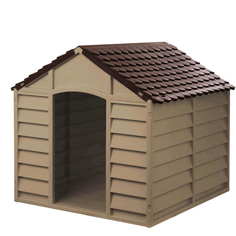 STARPLAST Σπίτι Σκύλου 78x84.5x80.5cm LARGE 10kg Μόκα-Σοκολατί ... 7202c866f0c
