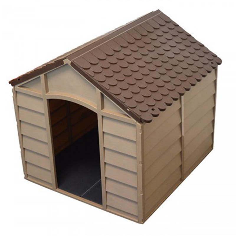 a56e72713afa ... STARPLAST Σπίτι Σκύλου 78x84.5x80.5cm LARGE 10kg Μόκα-Σοκολατί ...