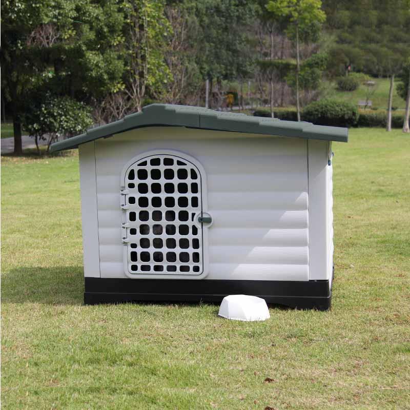 0b90c9002141 ... Σπίτι Σκύλου XLARGE 111x83.8x80.4cm με Πορτάκι Ασφαλείας και Ανοιγόμενη  Πλευρά 15.6kg