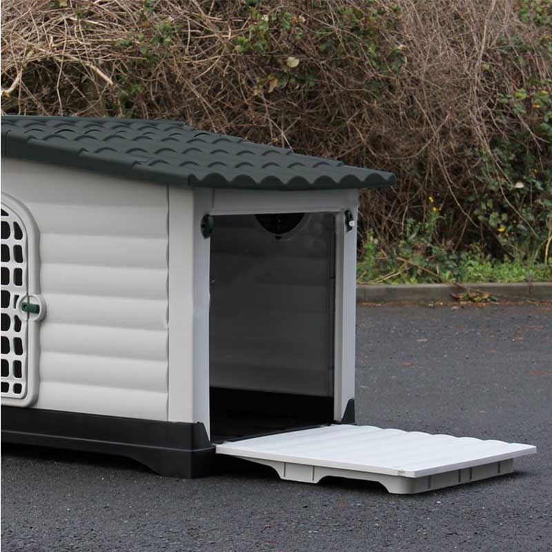 102f8757e500 ... Σπίτι Σκύλου XLARGE 111x83.8x80.4cm με Πορτάκι Ασφαλείας και Ανοιγόμενη  Πλευρά 15.6kg ...