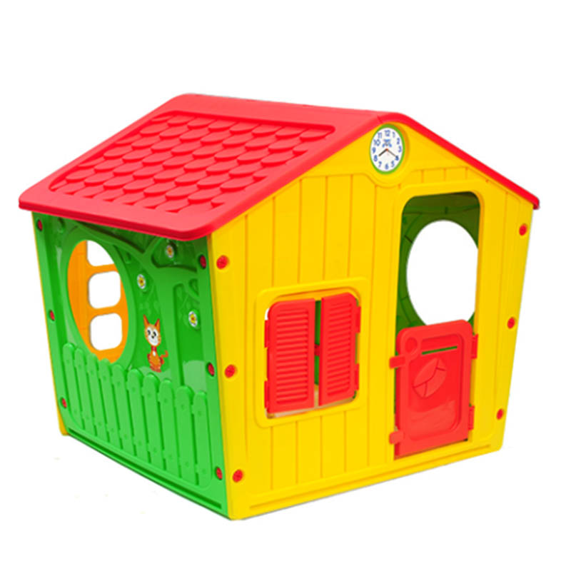a1ac11e7104e ... Παιδικό Σπιτάκι Κήπου 140x108x115.5cm Galilee Village House Πολύχρωμο  με Κόκκινη Σκεπή STARPLAY ...