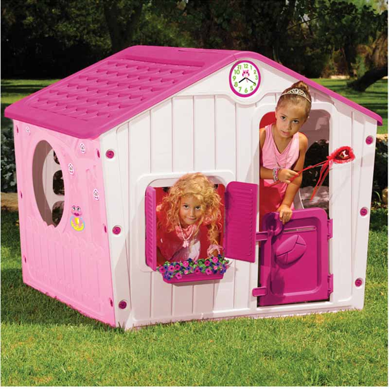 de9ddda617d4 ... Παιδικό Σπιτάκι Κήπου 140x108x115.5cm Galilee Village House Ροζ με  Φούξια Σκεπή STARPLAY ...