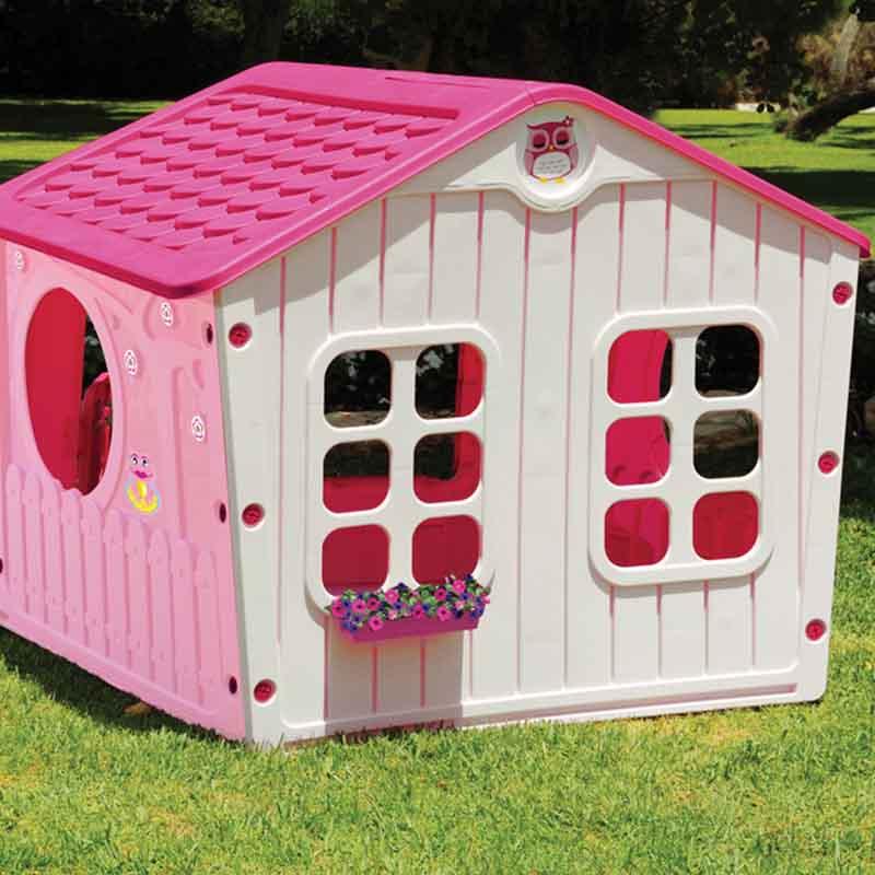 b65317e7657c ... Παιδικό Σπιτάκι Κήπου 140x108x115.5cm Galilee Village House Ροζ με  Φούξια Σκεπή STARPLAY ...