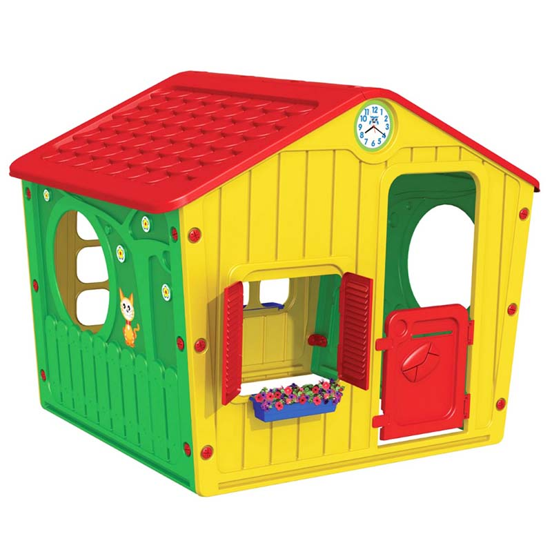 a85b30fc55f0 Apothiki365 Παιδικό Σπιτάκι Κήπου 140x108x115.5cm Galilee Village House  Πολύχρωμο με Κόκκινη Σκεπή STARPLAY