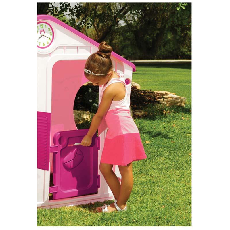046ba72682a0 ... Παιδικό Σπιτάκι Κήπου 140x108x115.5cm Galilee Village House Ροζ με  Φούξια Σκεπή STARPLAY
