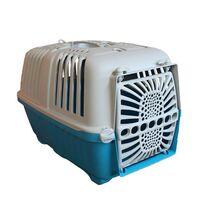Κλουβί Μεταφοράς Κατοικιδίου 47x29x31cm με Χειρολαβή και Γάντζους για Υποδοχή Ιμάντα Γαλάζιο-Γκρί ARTPLAST Ιταλίας