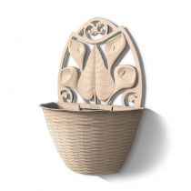 Γλάστρα Ημικυκλική Τοίχου 32x16x42.5cm Πλαστική Μπεζ 3.4lt BAMA Ιταλίας