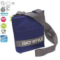 GIOSTYLE ITALY Ισοθερμική Τσάντα Ώμου 20x5.5x26cm Πάχος 10mm 1.5lt  Πολυεστέρας 420D MAX Απόδοση 9 Ώρες Πιστοποιήσεις Azo FREE/REACH SHOULDER BAG VELA Μπλε