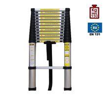 Τηλεσκοπική Σκάλα 3.78m Αλουμινίου με 13 Σκαλιά Βάρος 10.8kg MAX Αντοχή 150kg με 13 σκαλιά LS1112