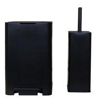 Σετ Κάδος Μπάνιου με Πεντάλ 13.5lt με Εσωτερικό Κάδο 7lt και Πιγκάλ Πλαστικό SOFT CLOSE Μαύρο Ελλάδας