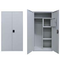 Μεταλλική Ντουλάπα 90x45x181cm Γαλβανιζέ με Χώρισμα και Εσωτερικό Ντουλάπι (Locker) 42kg 5 Αποθηκευτικοί Χώροι STEELEN