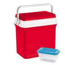 GIOSTYLE ITALY Φορητό Ψυγείο-Θερμός 29.5lt 41x27.5x40cm + Τάπερ 1L MAX Απόδοση 14 Ώρες CIAO!L Κόκκινο-Λευκό