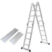 Σκάλα Αλουμινίου 4X4 Πολυμορφική 70x226cm ΜΑΧ Ύψος 4.62m με Πλατφόρμα MAX Αντοχή 150kg EN-131