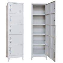 VESTA Μεταλλική Ντουλάπα-Φοριαμός (Locker) 50x45x190cm 5 Ντουλάπια 25kg Γκρι Ανοικτό