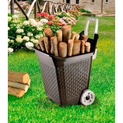 Καρότσι Κήπου Μεταφοράς Πλαστικό 59x50x72cm 3.9kg 76lt Αντοχή 60kg Καφέ BAMA Ιταλίας