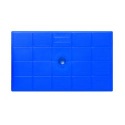 Σκαλοσκαμπό Πλαστικό 47x78x64cm 2+1 Σκαλιά Ανθρακί-Μπλε BAMA