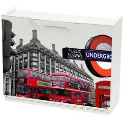 Παπουτσοθήκη Πλαστική Συναρμολογούμενη 51x17,3x41cm για 3 Ζευγάρια UNIKA Decor London Red Bus