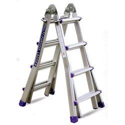 Σκάλα Αλουμινίου Επαγγελματική 4x5 Σκαλιά Multiuse Μέγιστο Ύψος 5.10m Αντοχή 150kg Βάρος 13.6kg με Πιστοποίηση EN131