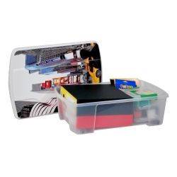 Κουτί Αποθήκευσης 56x39x18cm Πλαστικό 35lt Διάφανο Decor New York ARTPLAST Ιταλίας