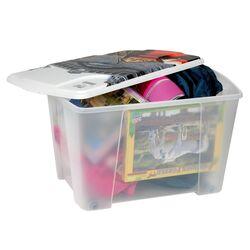 Κουτί Αποθήκευσης 56x39x35cm Πλαστικό 55lt Διάφανο Decor Venezia ARTPLAST Ιταλίας
