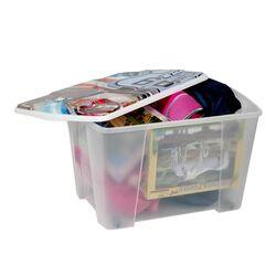 Κουτί Αποθήκευσης 56x39x35cm Πλαστικό 55lt Διάφανο Decor ROUTE 66 ARTPLAST Ιταλίας
