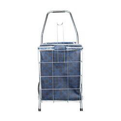 Καρότσι Λαϊκής Συρμάτινο 55lt 45x42x93cm Πτυσσόμενο 2.4kg Αντοχή 30kg Μπλε Τσάντα