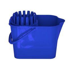 Κουβάς Σφουγγαρίσματος 16lt 38x25.5x32cm με Στίφτη και Ρόδες Μπλε