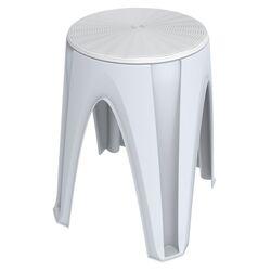 Πλαστικό Σκαμπό 35x35x45.5cm με Περιστρεφόμενη Θέση Λευκό BAMA Ιταλίας