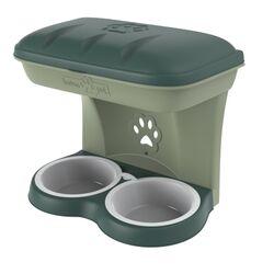 Ταΐστρα-Ποτίστρα Σκύλων 2σε1 48x27x42cm Πράσινο-Κυπαρισσί BAMA Ιταλίας