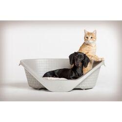 Κρεβάτι Σκύλου-Γάτας 75x55x26cm RATTAN με Σύστημα Αερισμού Γκρι BAMA Ιταλίας
