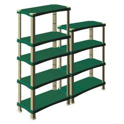 Ραφιέρα 4όροφη 80x40x137cm 55kg/Ράφι Ρυθμιζόμενη Πλαστική 8.5kg Max Αντοχή 220kg Γκρι-Πράσινο BAMA Ιταλίας