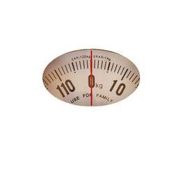 Μηχανική Ζυγαριά Μπάνιου 28x28x5.5cm Ικανότητα Ζύγισης 120kg Βάρος 1.1kg SOLE Λευκό