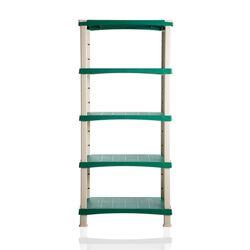 Ραφιέρα 5όροφη 80x40x174cm 55kg/Ράφι Ρυθμιζόμενη Πλαστική 10.8kg Max Αντοχή 275kg Γκρι-Πράσινο BAMA Ιταλίας