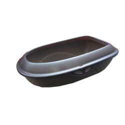 Τουαλέτα Γάτας Ανοικτή 59.5x40.3x18cm RATTAN Γκρι Σκούρο BAMA Ιταλίας
