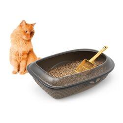 ΤΤουαλέτα Γάτας Ανοικτή 59.5x40.3x18cm RATTAN Ανθρακί BAMA Ιταλίας