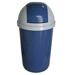 Κάδος Απορριμάτων 60lt Πλαστικός Ø40x77cm Επαγγελματικός Μπλε-Λευκό Πάγου VIOMES Ελλάδας