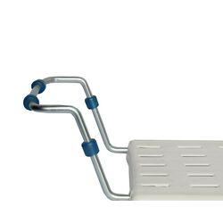 Κάθισμα-Σκαμπό Μπανιέρας 65.5x22x14cm Πλαστικό με Επεκτεινόμενα Μεταλλικά Μπράτσα Βάρος 1.85kg Λευκό Ελλάδας