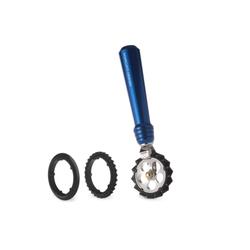 Marcato Εξάρτημα Κοπής Ζύμης DESIGN με 3 Ροδέλες για Επιλογή Κοπής Μπλε PASTAWHEEL Ιταλίας