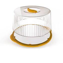 Τουρτιέρα Πλαστική 36.5x33x14.8cm με Περιστρεφόμενη Βάση Κίτρινο-Διάφανο BAMA Ιταλίας