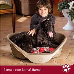 Κρεβάτι Σκύλου-Γάτας 110x77.5x36.5cm RATTAN με Σύστημα Αερισμού Καφέ BAMA Ιταλίας