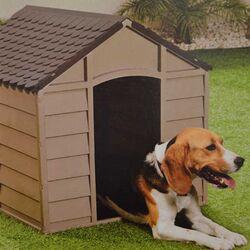 Σπίτι Σκύλου 71x72x68.5cm Μεσαίου Μεγέθους 6kg Μόκα-Σοκολατί STARPLAST