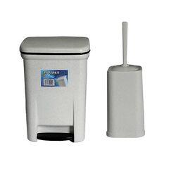 Σετ Κάδος Μπάνιου με Πεντάλ 13.5lt με Εσωτερικό Κάδο 7lt και Πιγκάλ Πλαστικό Γρανίτης VIOMES Ελλάδας
