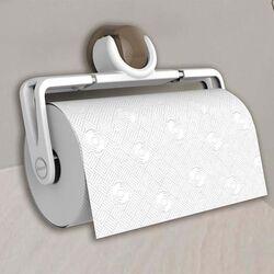 Βάση Χαρτιού Κουζίνας Πτυσσόμενη 25.1x5x16.2cm Πλαστική Επιτοίχια Λευκή-Καφέ BAMA Ιταλίας
