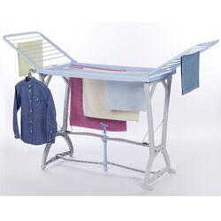 Απλώστρα Ρούχων Πλαστική 198x60x116cm 3φυλλη Άπλωμα 22m Αντοχή 25kg Βάρος 5kg Γαλάζιο-Λευκό Panny BAMA Ιταλίας