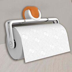 Βάση Χαρτιού Κουζίνας Πτυσσόμενη 25.1x5x16.2cm Πλαστική Επιτοίχια Λευκή-Κροκί BAMA Ιταλίας